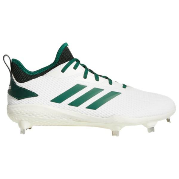 アディダス adidas メンズ 野球 シューズ・靴【adiZERO Afterburner V】White/Dark Green