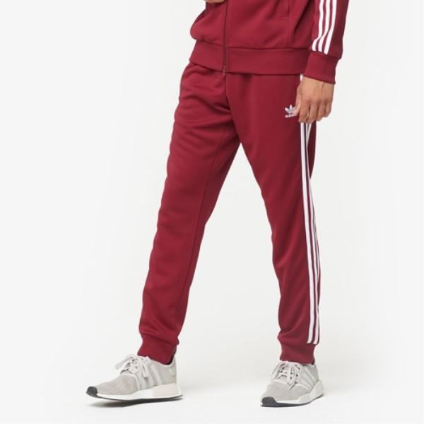 アディダス adidas Originals メンズ ボトムス・パンツ スウェット・ジャージ【Superstar Track Pants】Collegiate Burgundy