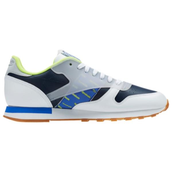 リーボック Reebok メンズ ランニング・ウォーキング シューズ・靴【Classic Leather Altered】White/Collegiate Navy/Neon Lime