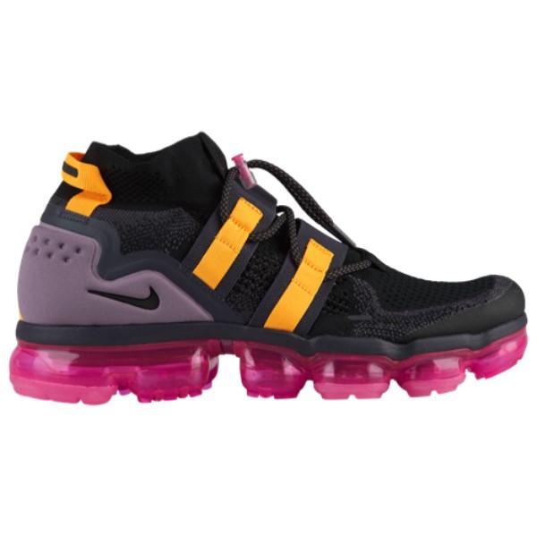 ナイキ Nike メンズ ランニング・ウォーキング シューズ・靴【Air Vapormax Flyknit Utility】Black/Black/Gridiron/Pink Blast