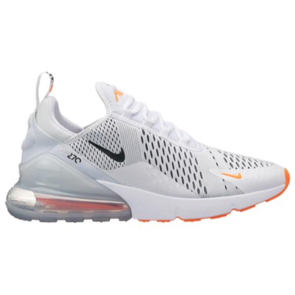 ナイキ Nike メンズ ランニング・ウォーキング シューズ・靴【Air Max 270】White/Black/Total Orange