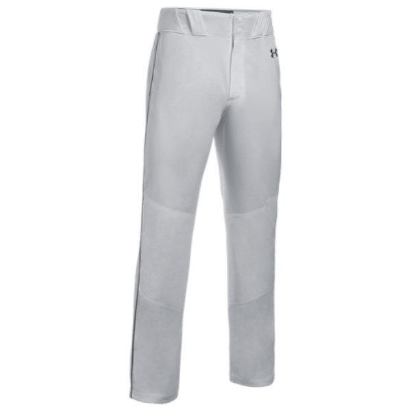 アンダーアーマー Under Armour メンズ 野球 ボトムス・パンツ【Team Piped Icon Baseball Pants】Grey/Black