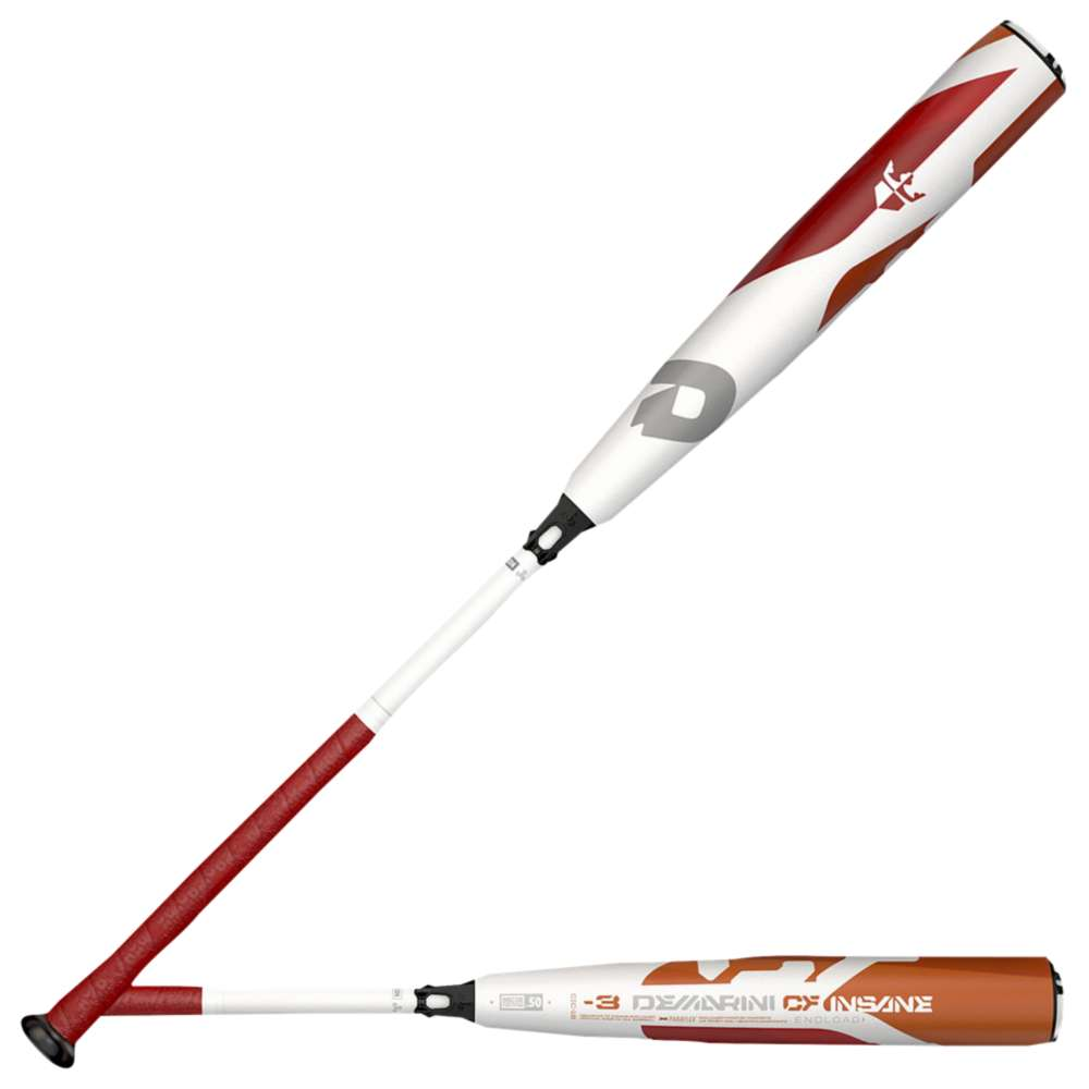 ディマリニ DeMarini メンズ 野球 バット【CF Insane BBCOR Baseball Bat】White/Orange/Red