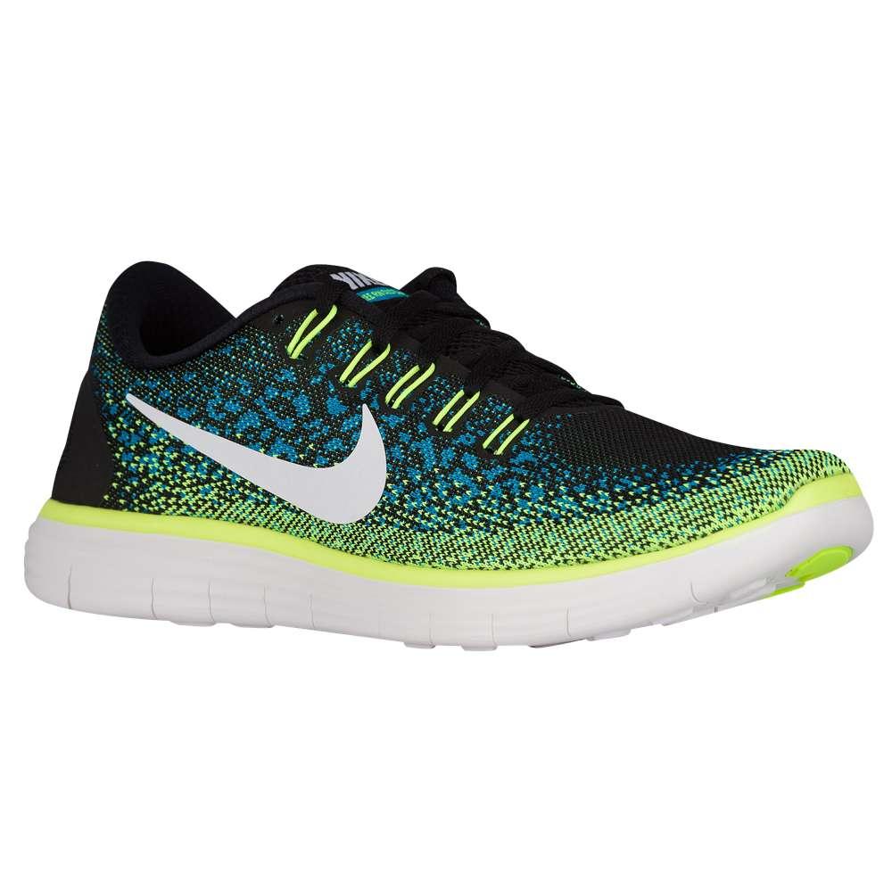 ナイキ Nike メンズ ランニング・ウォーキング シューズ・靴【Free RN Distance】Black/White/Blue Lagoon/Volt
