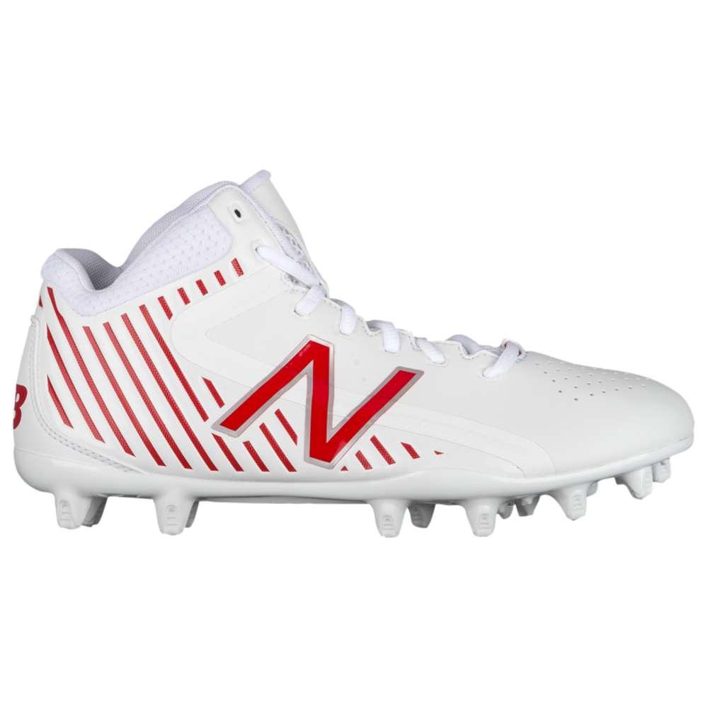 春先取りの ニューバランス New Balance Balance メンズ ラクロス シューズ・靴 New【Rush MID メンズ】White/Red, グリーンポプリ:7e4ae502 --- canoncity.azurewebsites.net