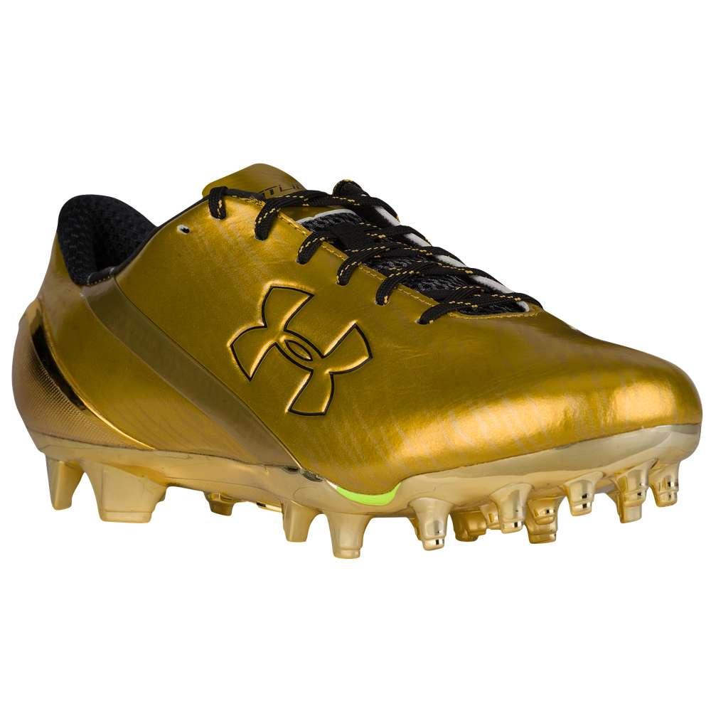 アンダーアーマー Under Armour メンズ アメリカンフットボール シューズ・靴【Spotlight LE】Black/Gold Rush
