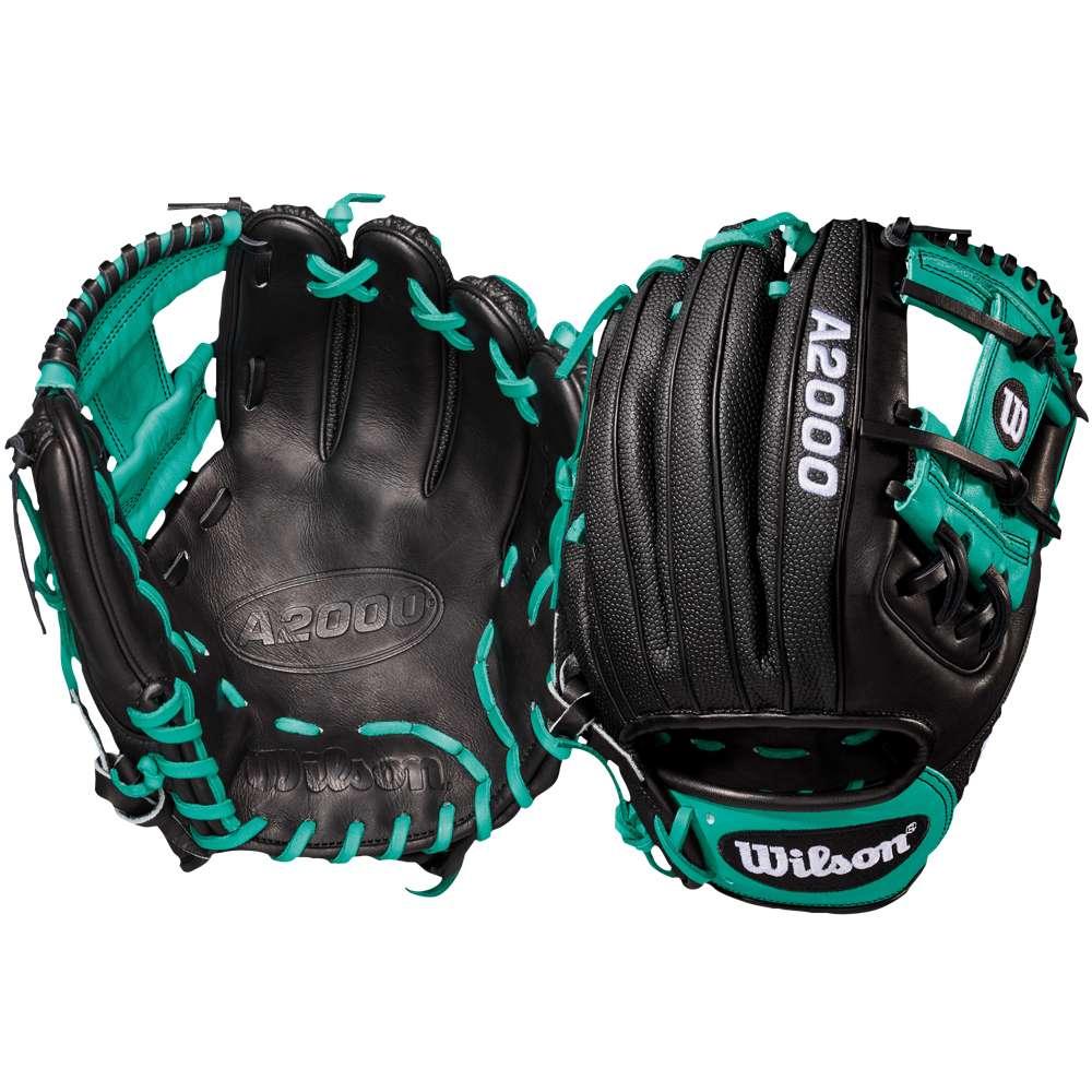 ウィルソン Wilson メンズ 野球 グローブ【A2000 RC22 Superskin Fielder's Glove】Black/Mariner Green/White