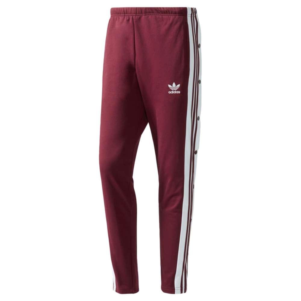 アディダス adidas Originals メンズ ボトムス・パンツ スウェット・ジャージ【Snap Track Pants】Maroon/White