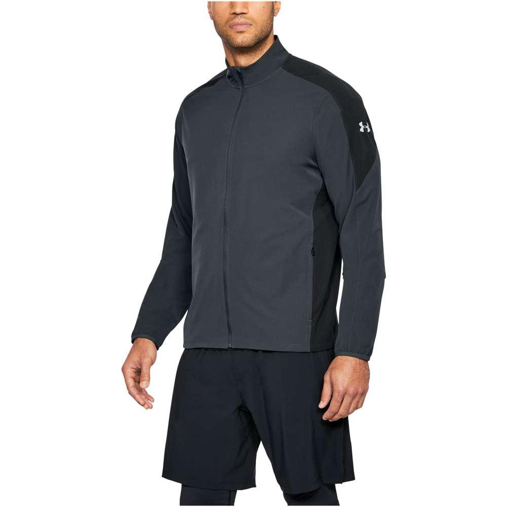 アンダーアーマー Under Armour メンズ ランニング・ウォーキング アウター【Storm Out & Back Woven Jacket】Anthracite/Black/Reflective