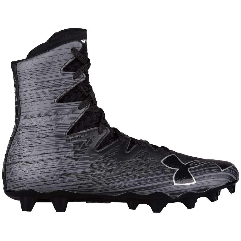 アンダーアーマー Under Armour メンズ ラクロス シューズ・靴【Lacrosse Highlight MC】Black/Black