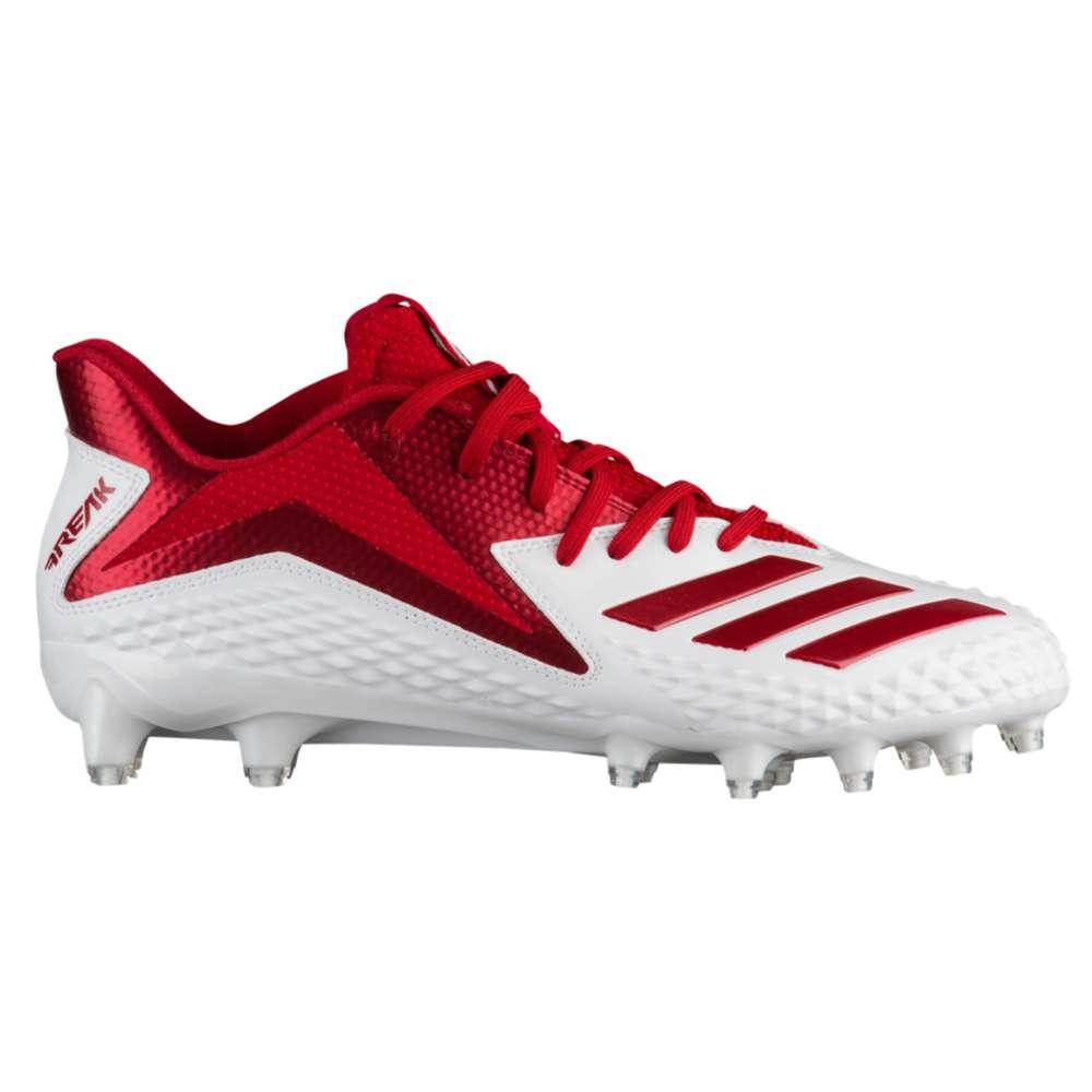 アディダス adidas メンズ アメリカンフットボール シューズ・靴【Freak X Carbon Low】White/Power Red/Power Red