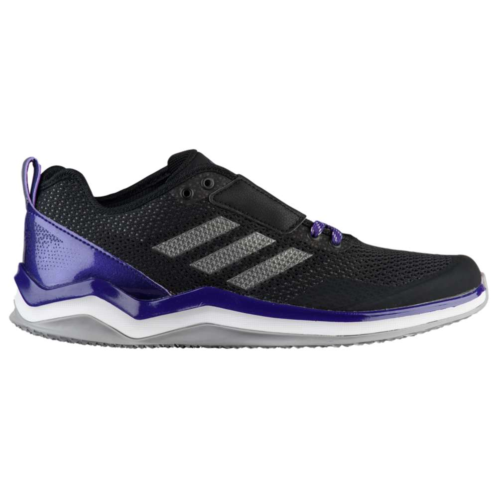 アディダス adidas メンズ 野球 シューズ・靴【Speed Trainer 3.0】Black/Iron Metallic/Collegiate Purple