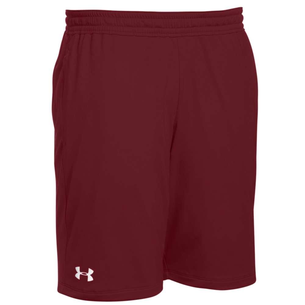 アンダーアーマー Under Armour メンズ フィットネス・トレーニング ボトムス・パンツ【Team Pocketed Raid Shorts】Cardinal/White