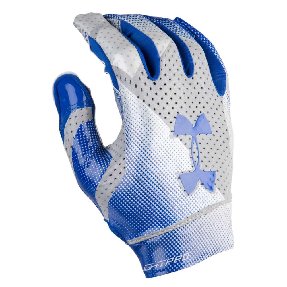 アンダーアーマー Under Armour メンズ アメリカンフットボール グローブ【Spotlight Pro Football Gloves】Royal/Metallic Silver