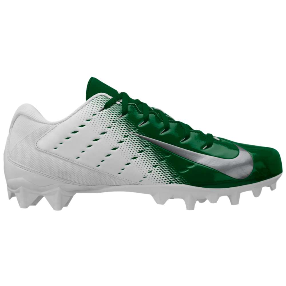 ナイキ Nike メンズ アメリカンフットボール シューズ・靴【Vapor Untouchable Varsity 3 TD】White/Metallic Silver/Pine Green/Black