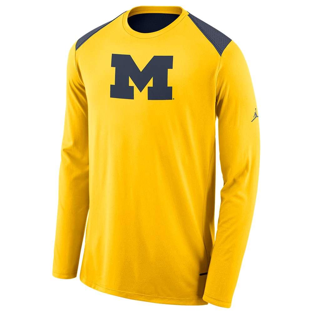 ナイキ ジョーダン Jordan メンズ トップス 長袖Tシャツ【College L/S Shooter Shirt】Yellow