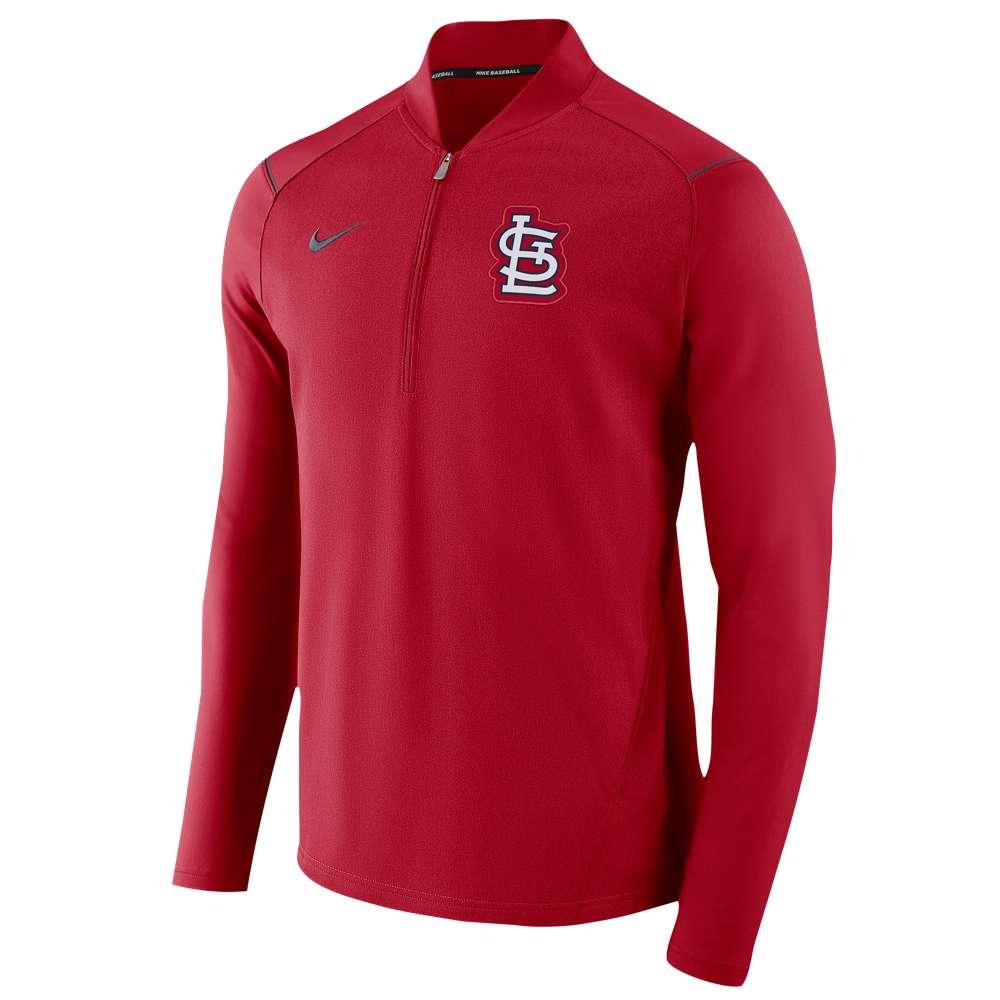 ナイキ Nike メンズ トップス【MLB 1/2 Zip Elite Game Jacket】Red Heather