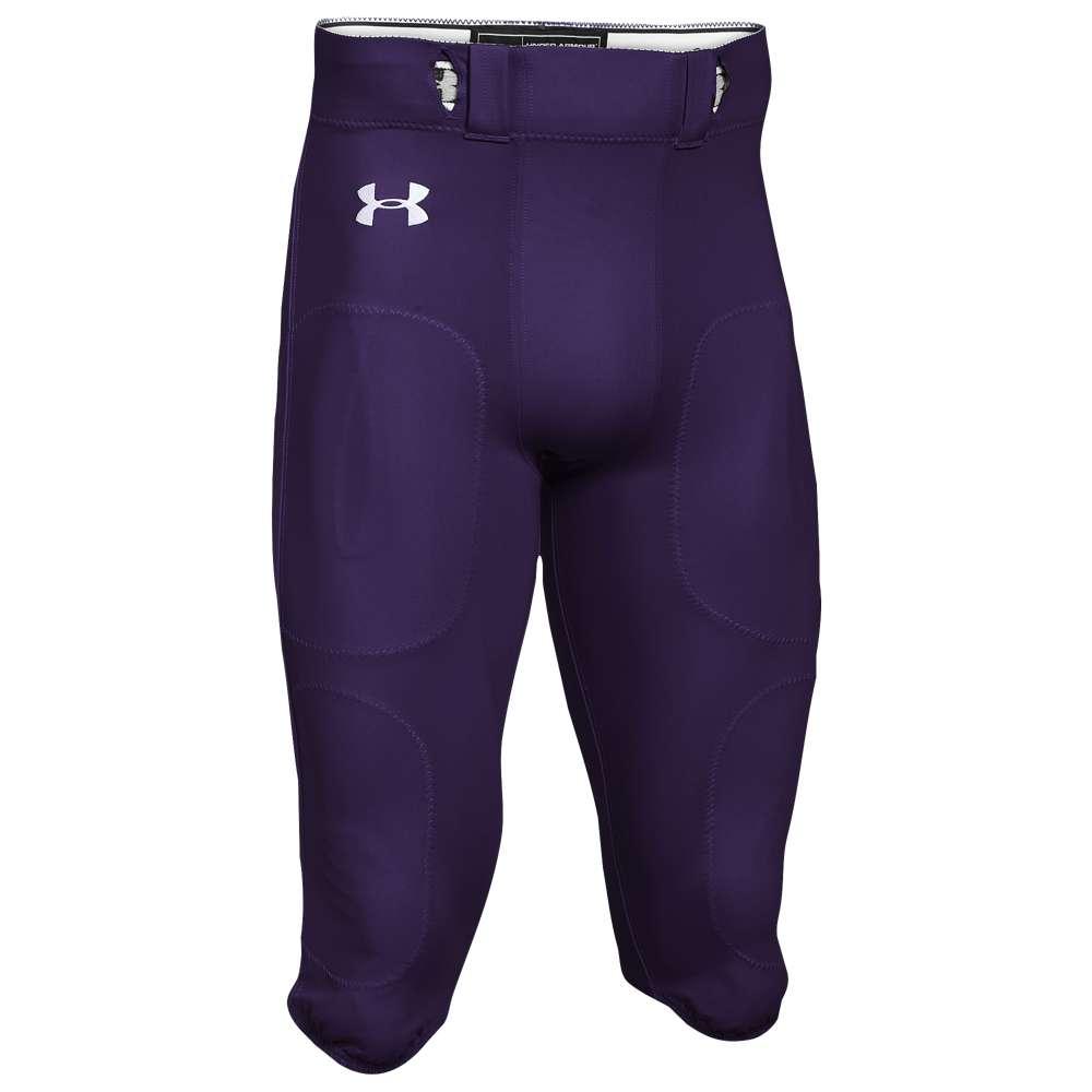アンダーアーマー Under Armour メンズ アメリカンフットボール ボトムス・パンツ【Team Stock Instinct Pants】Purple/White