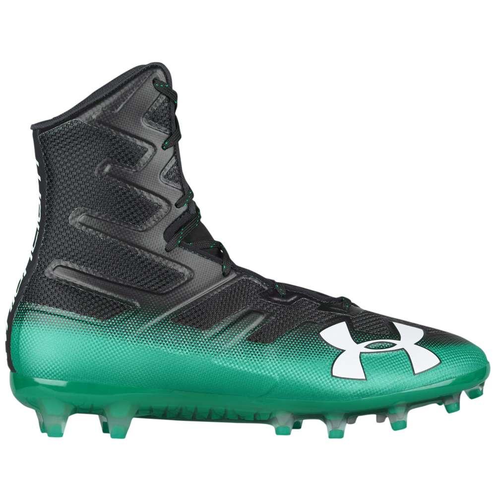 アンダーアーマー Under Armour メンズ アメリカンフットボール シューズ・靴【Highlight MC】Black/Classic Green