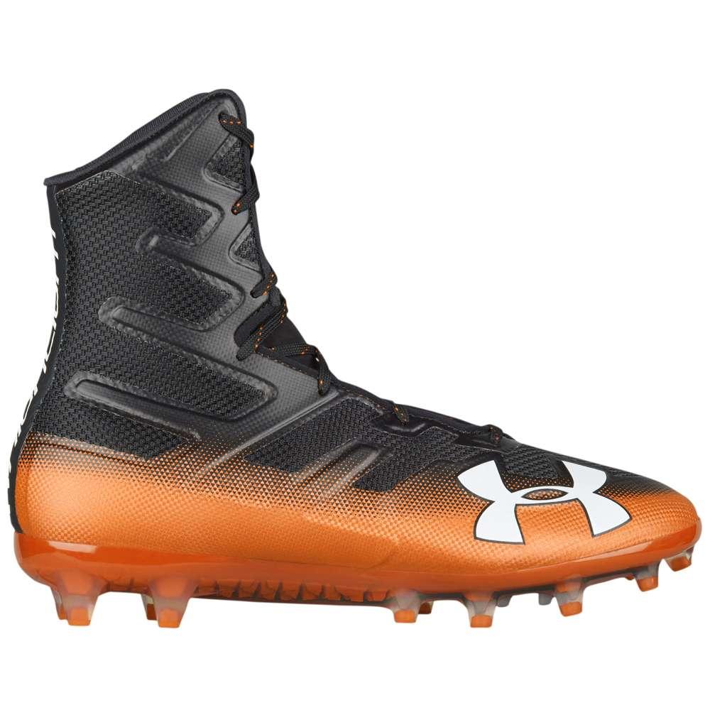 アンダーアーマー Under Armour メンズ アメリカンフットボール シューズ・靴【Highlight MC】Black/Team Orange