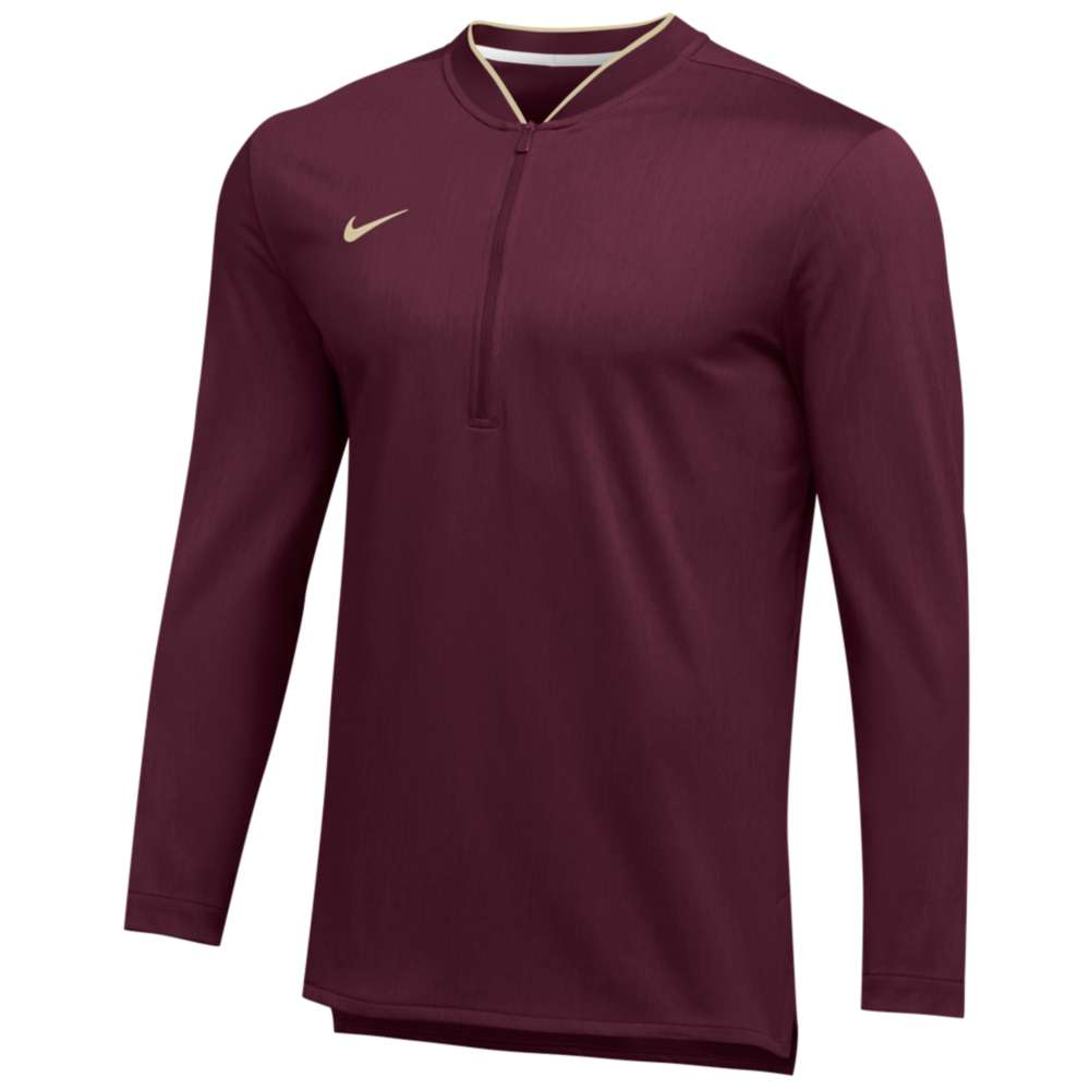 ナイキ Nike メンズ トップス【Team Authentic 1/2 Zip Coaches Top】Team Maroon/Team Gold