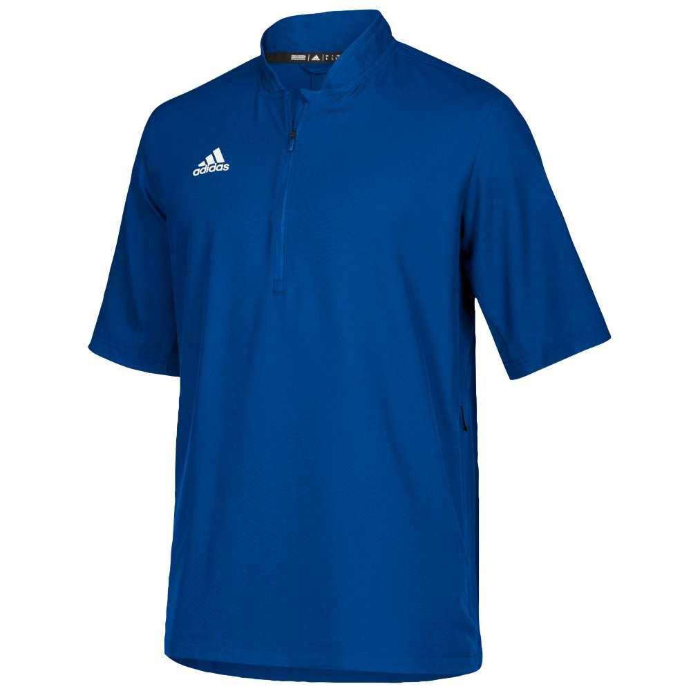 アディダス adidas メンズ アウター ジャケット【Team Iconic S/S 1/4 Zip Cage Jacket】Collegiate Royal/White