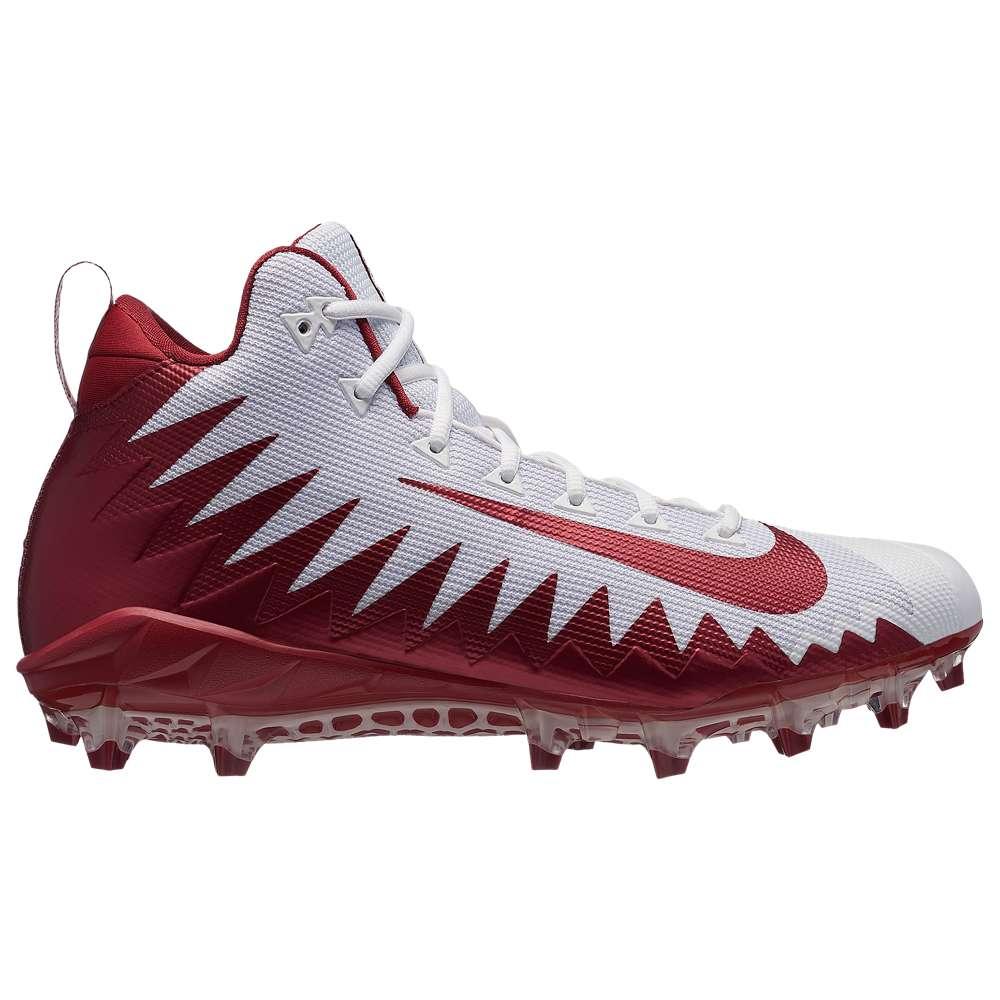 ナイキ Nike メンズ アメリカンフットボール シューズ・靴【Alpha Menace Pro Mid】White/Team Crimson