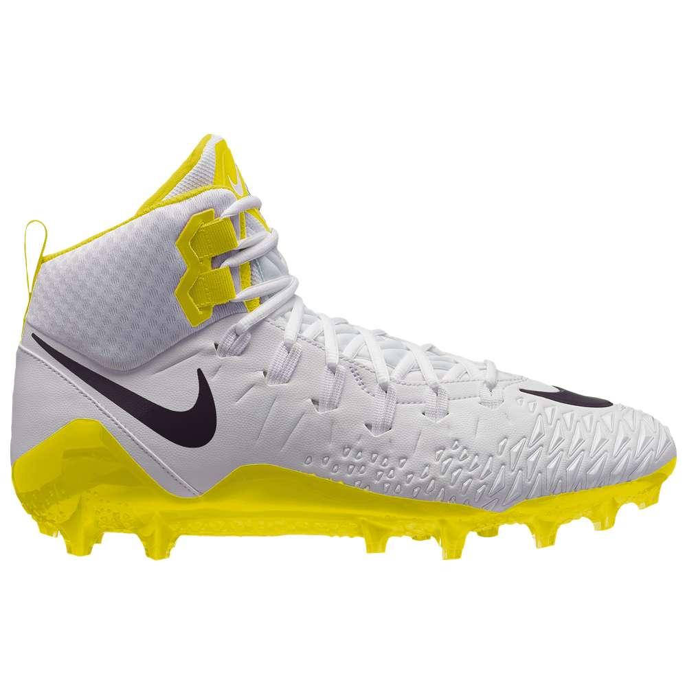 ナイキ Nike メンズ アメリカンフットボール シューズ・靴【Force Savage Pro】White/Black/Dynamic Yellow