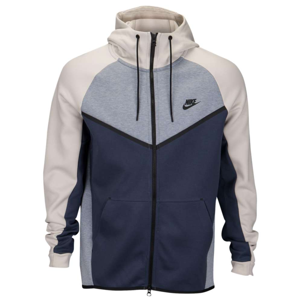 ナイキ Nike メンズ トップス フリース【Tech Fleece Colorblocked Windrunner】Glacier Grey/Light Bone/Black