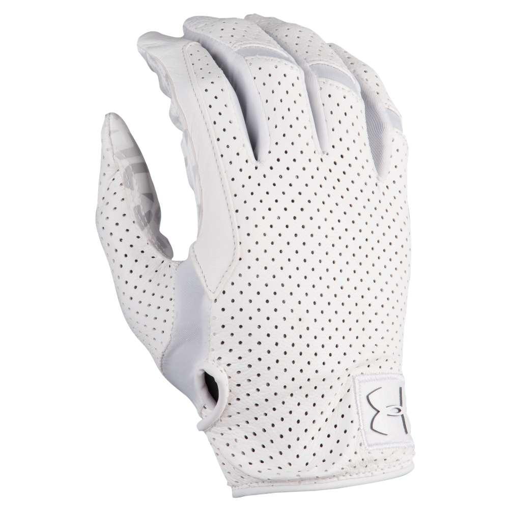 アンダーアーマー Under Armour メンズ アメリカンフットボール グローブ【Spotlight Lux Football Gloves】White/White
