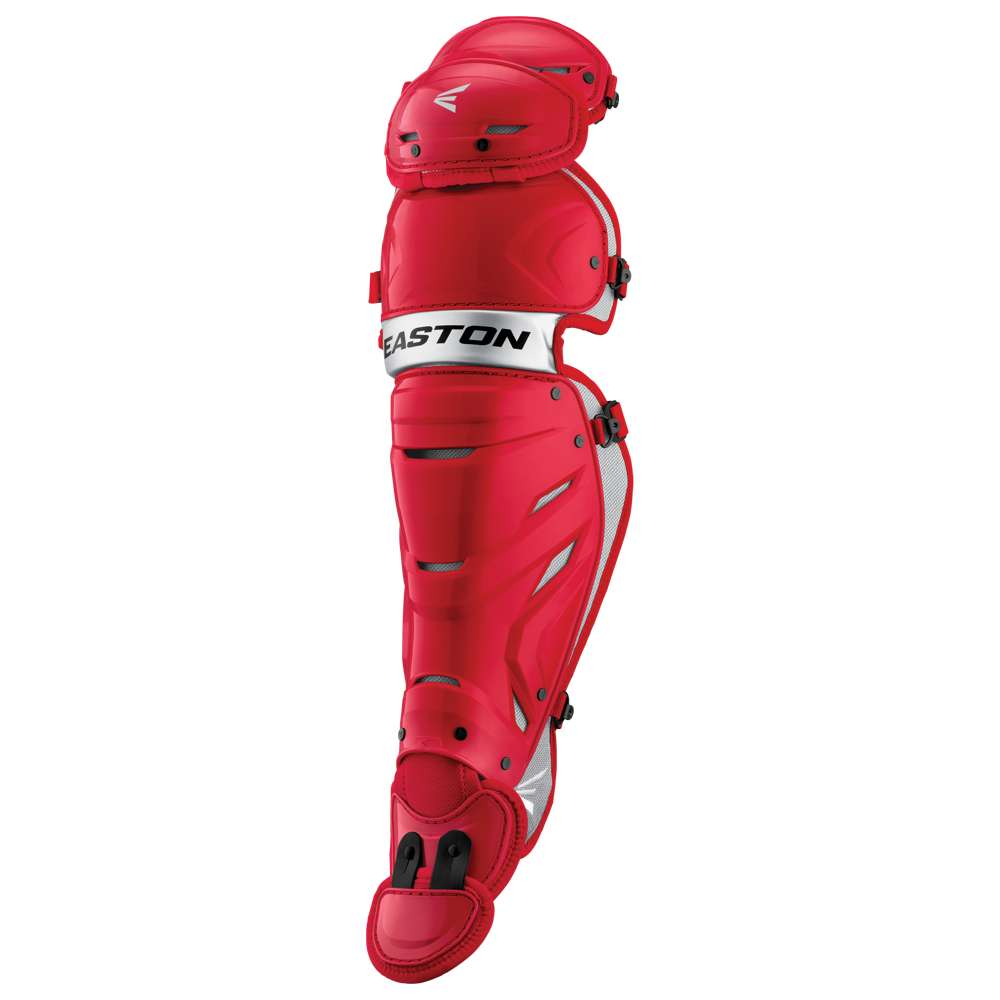 イーストン Easton メンズ 野球 プロテクター【Pro X Leg Guard】Red/Silver