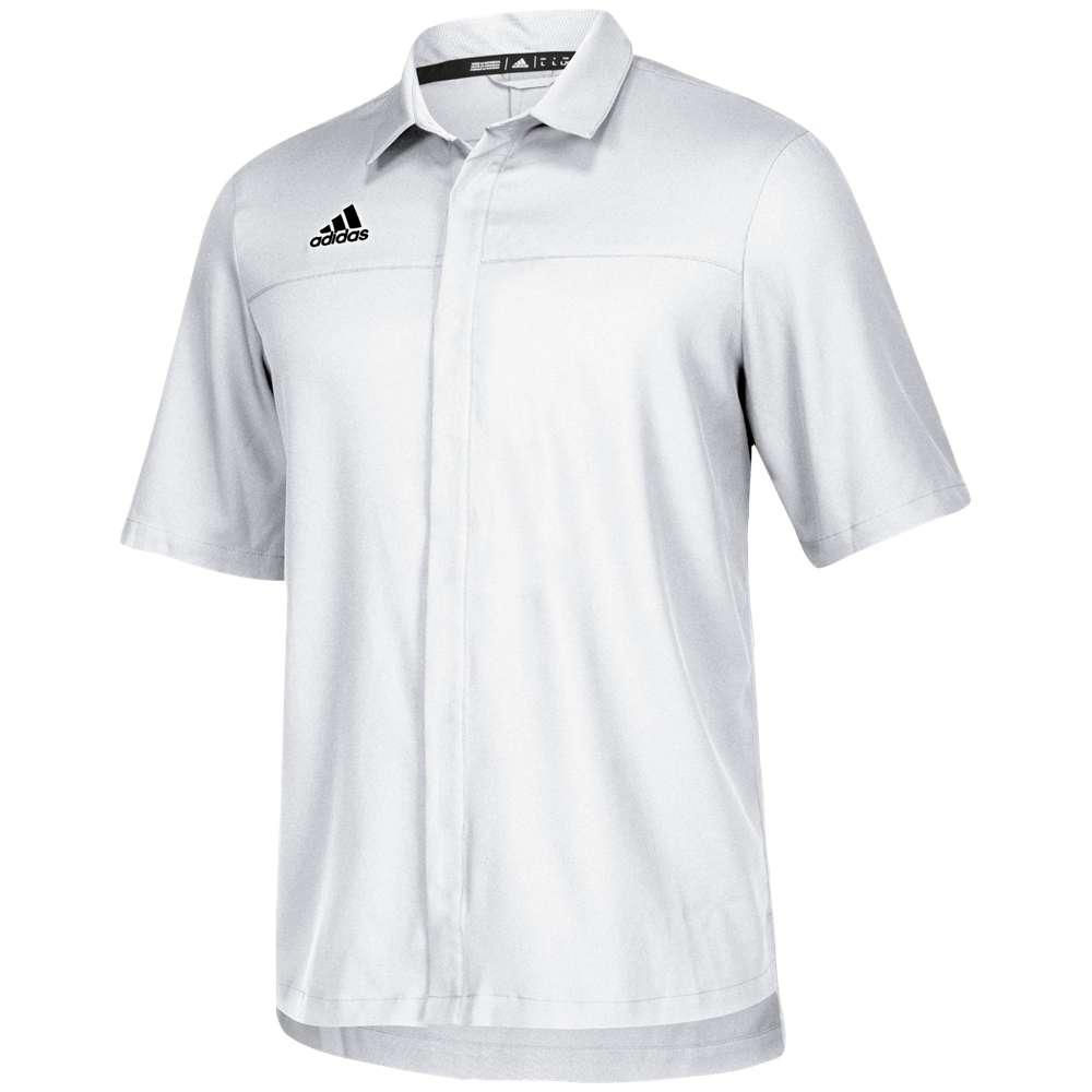 アディダス adidas メンズ トップス ポロシャツ【Team Iconic Full Button Polo】White/Onix