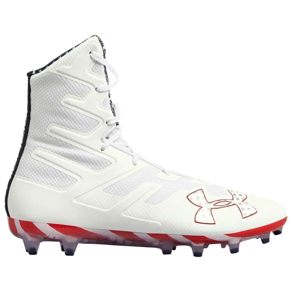 アンダーアーマー Under Armour メンズ ラクロス シューズ・靴【Lacrosse Highlight MC LE】White/Black