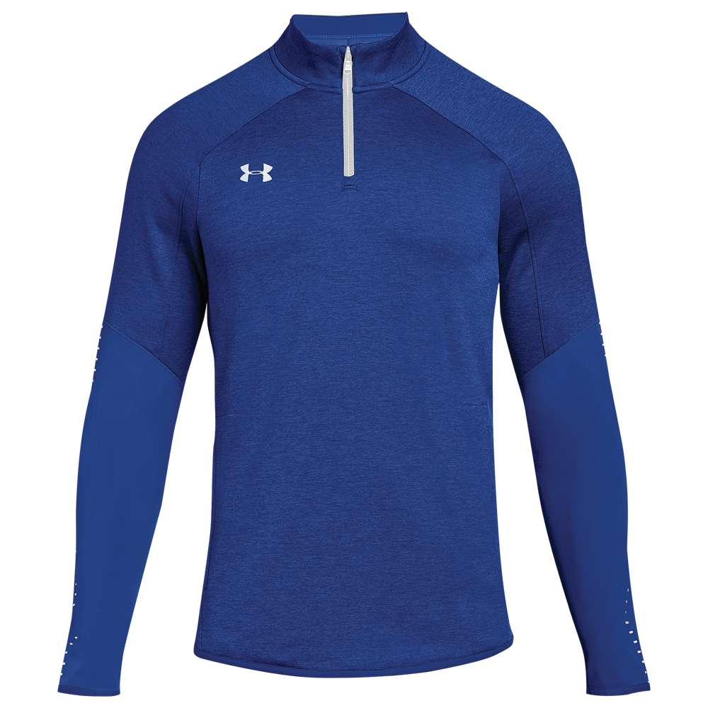 アンダーアーマー Under Armour メンズ トップス【Team Qualifier Hybrid 1/4 Zip】Royal/White