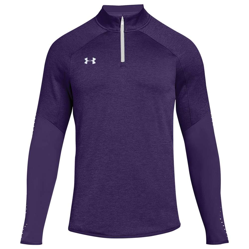 アンダーアーマー Under Armour メンズ トップス【Team Qualifier Hybrid 1/4 Zip】Purple/White