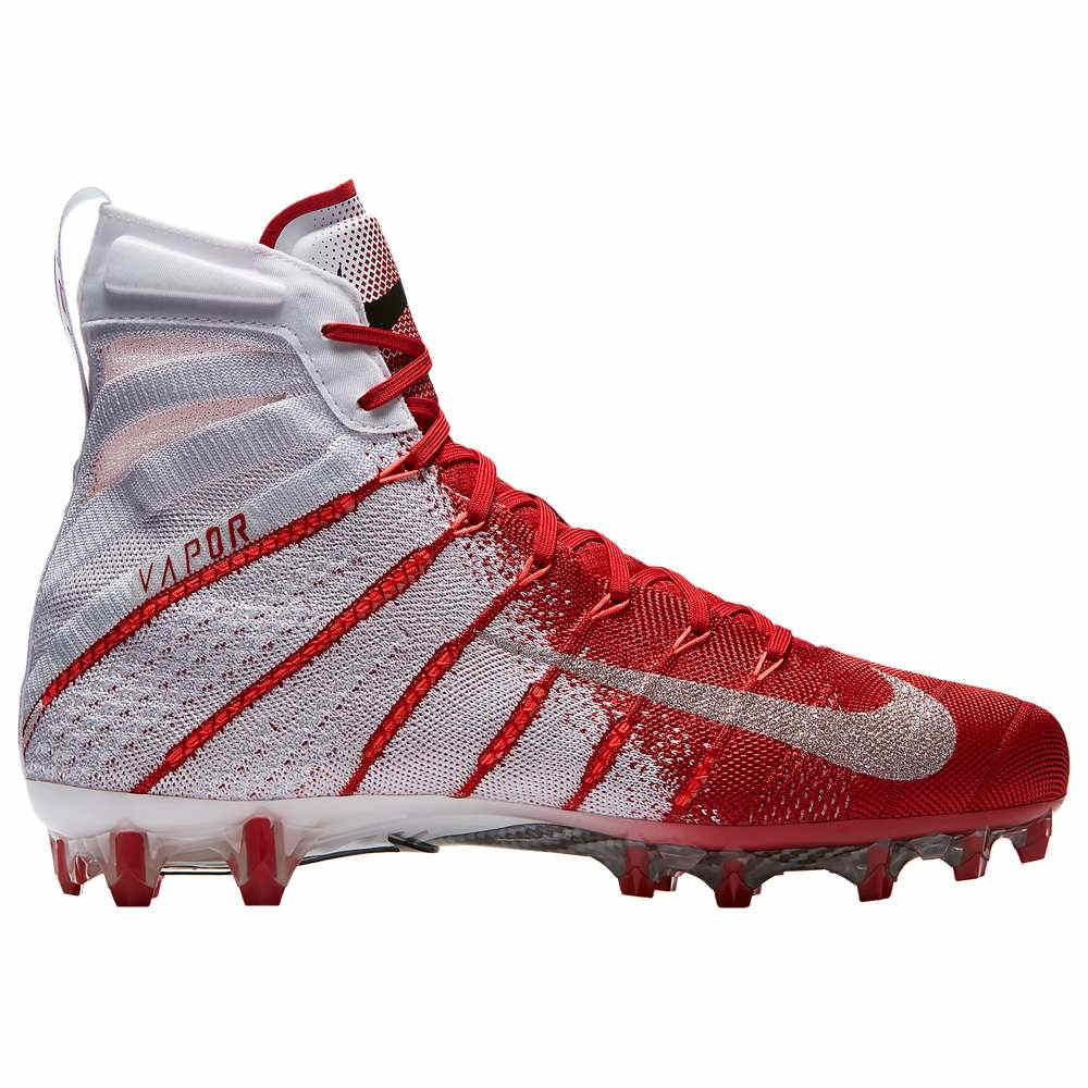 ナイキ Nike メンズ アメリカンフットボール シューズ・靴【Vapor Untouchable 3 Elite】White/Metallic Silver/University Red/Total Crimson