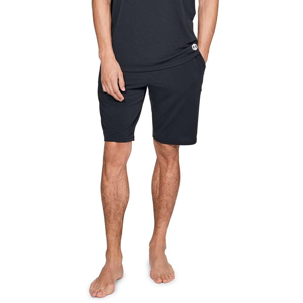 アンダーアーマー Under Armour メンズ フィットネス・トレーニング ボトムス・パンツ【Recovery Sleepwear Shorts】Black/Metallic Silver