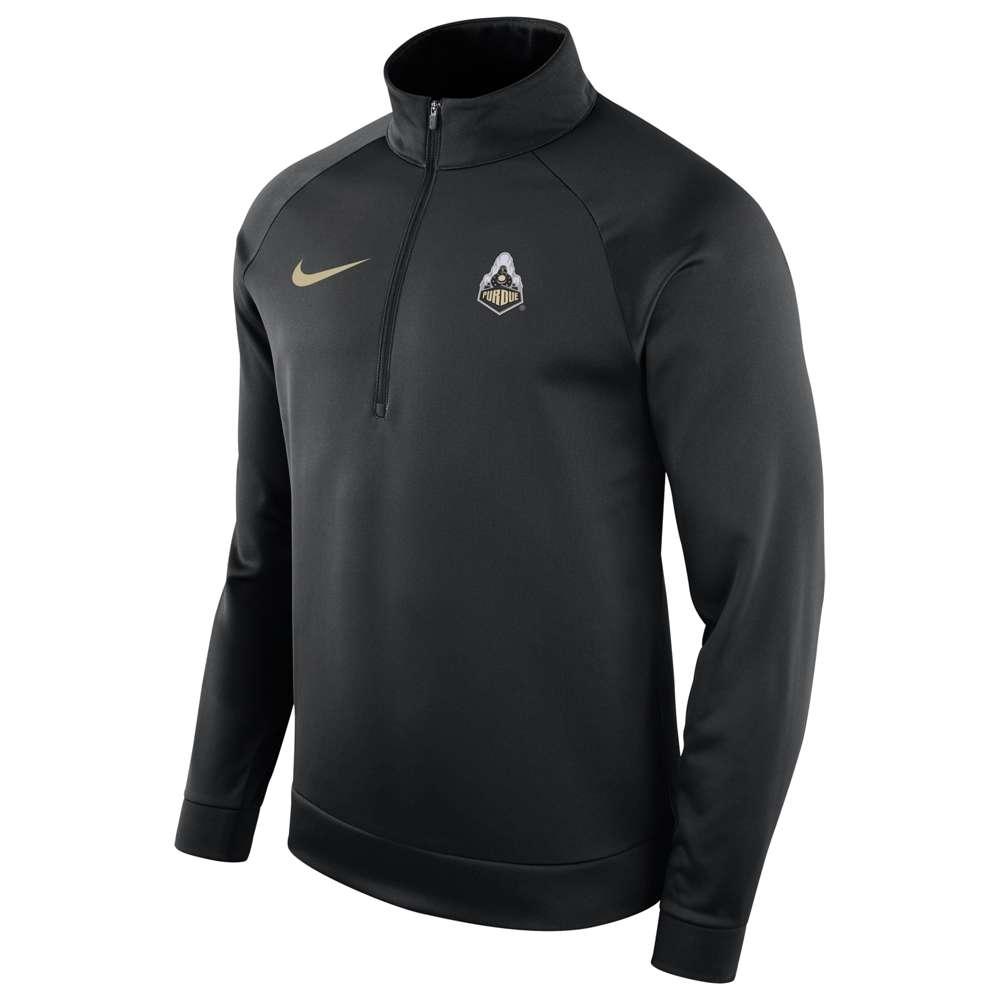 ナイキ Nike メンズ トップス【College Therma L/S 1/2 Zip Top】Black