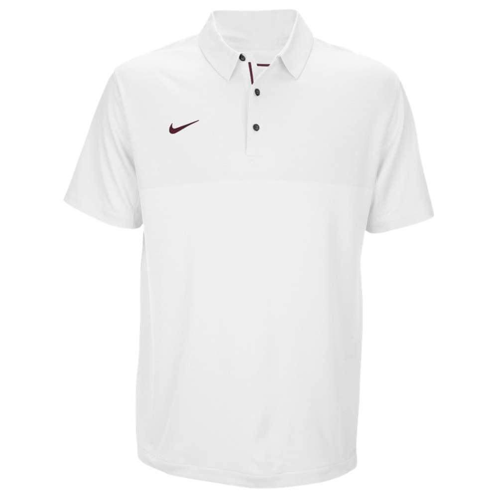 ナイキ Nike メンズ トップス ポロシャツ【Team Sideline Dry Elite Polo】White/Deep Maroon