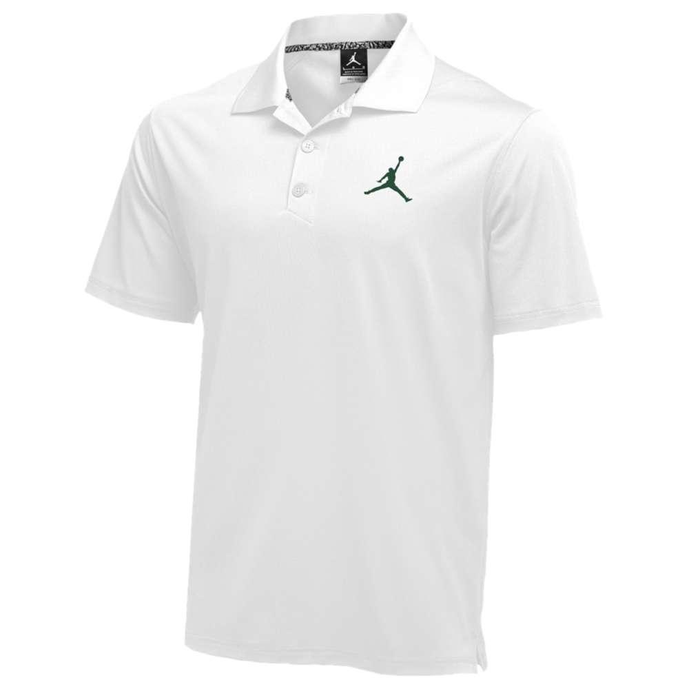 ナイキ ジョーダン Jordan メンズ トップス ポロシャツ【Team Polo】White/Dark Green