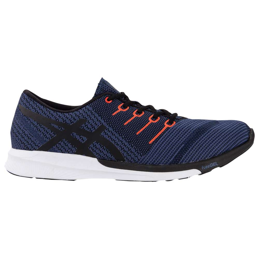 アシックス ASICS メンズ ランニング・ウォーキング シューズ・靴【fuzeX Knit】Dark Blue/Black/Cherry Tomato