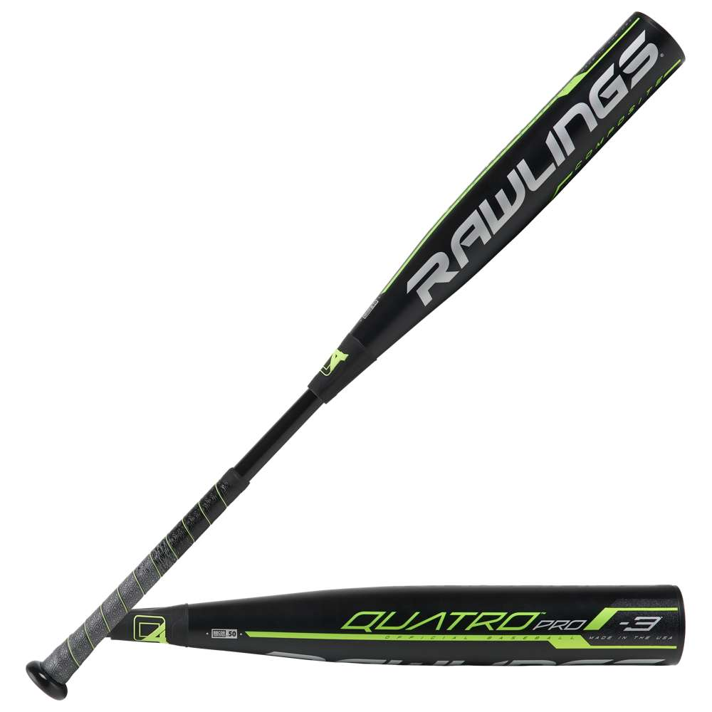 ローリングス Rawlings メンズ 野球 バット【Quatro Pro BBCOR Baseball Bat】Black/Lime Green