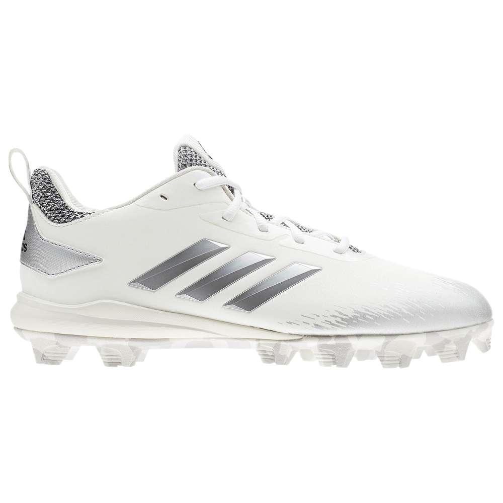 アディダス adidas メンズ 野球 シューズ・靴【Afterburner V MD】White/Metallic Silver