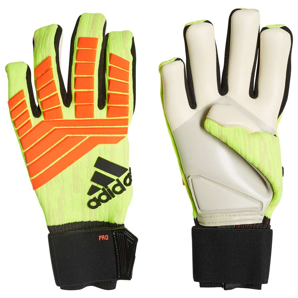 アディダス adidas ユニセックス サッカー グローブ【Predator Pro Goalie Gloves】Solar Yellow/Solar Red/Black