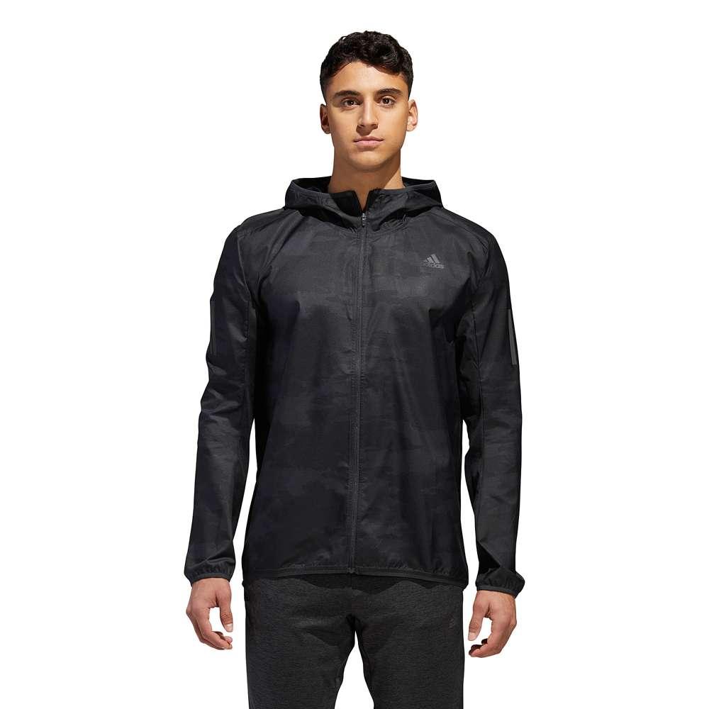 アディダス adidas メンズ ランニング・ウォーキング アウター【Response Hooded Wind Jacket】Carbon