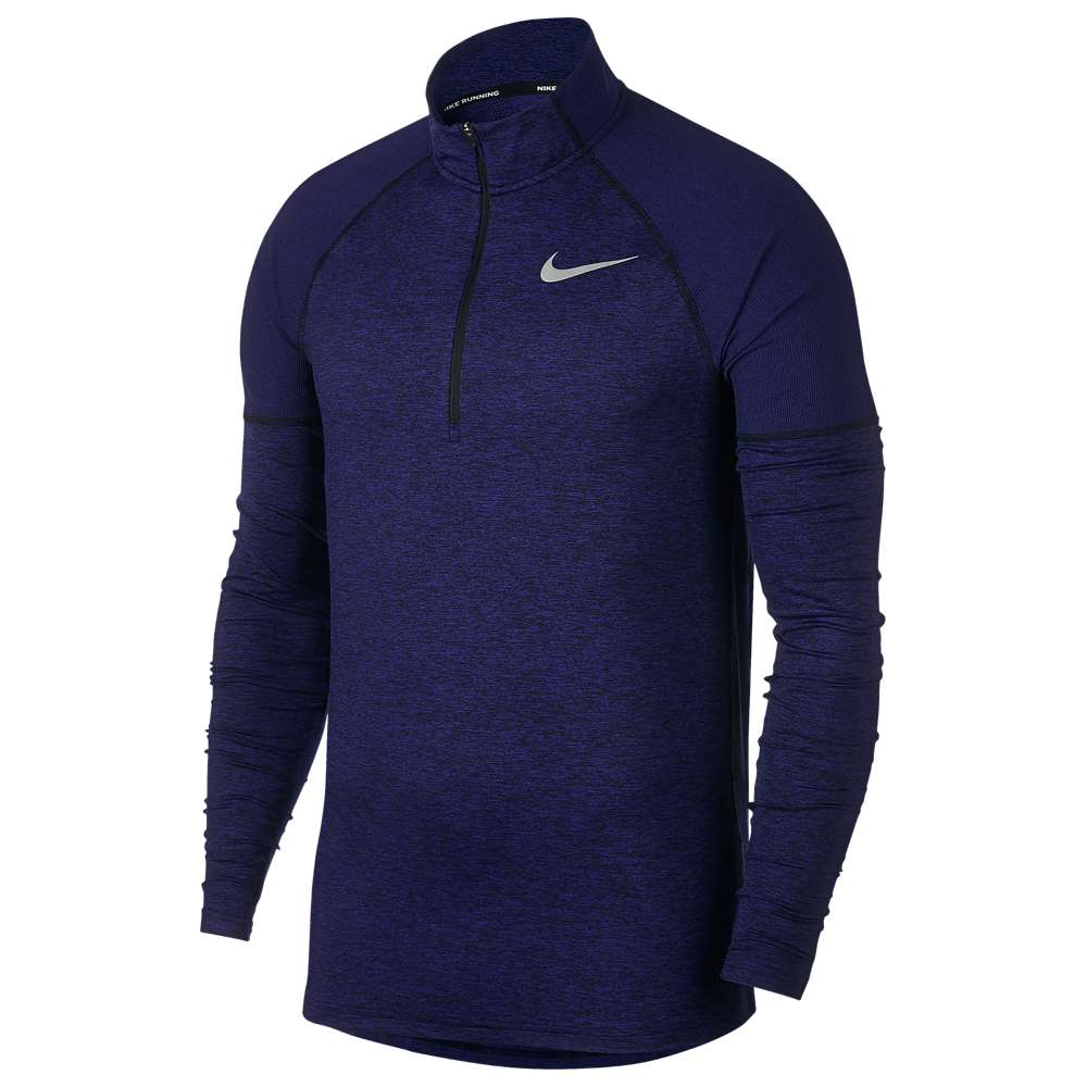 ナイキ Nike メンズ ランニング・ウォーキング トップス【Element 1/2 Zip 2.0】Black/Regency Purple/Reflective Silver