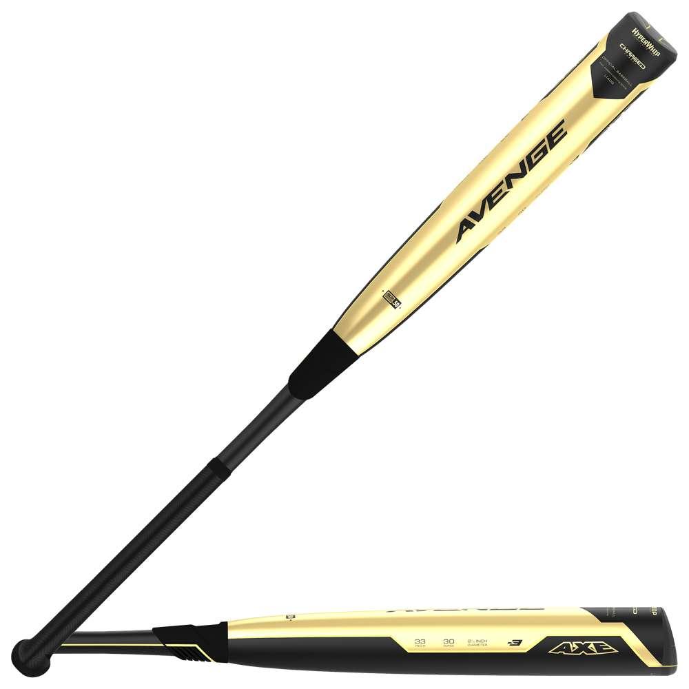 アックスバット Axe Bat メンズ 野球 バット【Avenge BBCOR Baseball Bat】Black/Metallic Gold