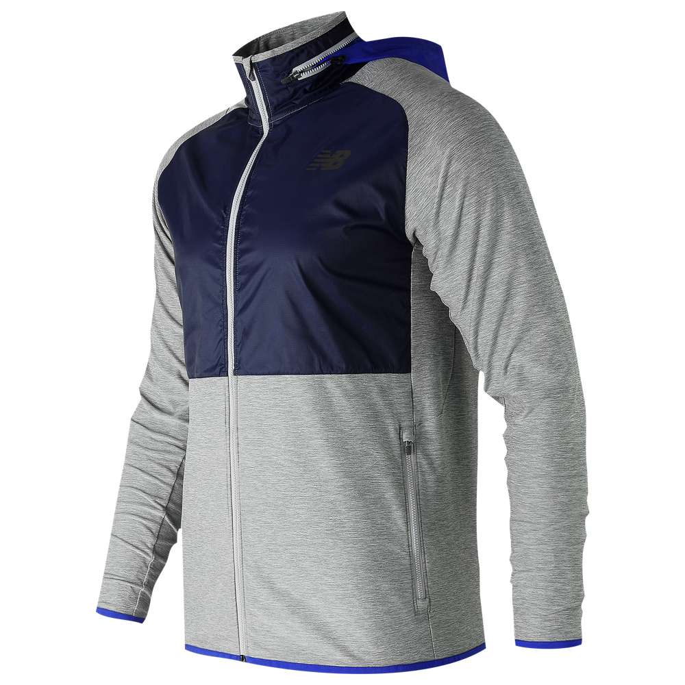 ニューバランス New Balance メンズ フィットネス・トレーニング トップス【Anticipate Full-Zip Jacket】Athletic Grey