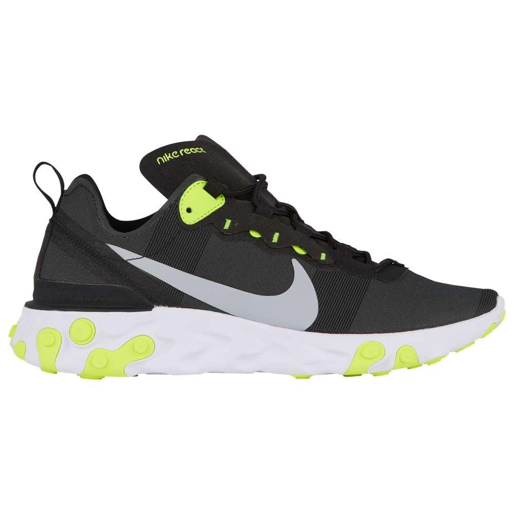 ナイキ Nike メンズ ランニング・ウォーキング シューズ・靴【React Element 55】Black/Volt/Cool Grey/White