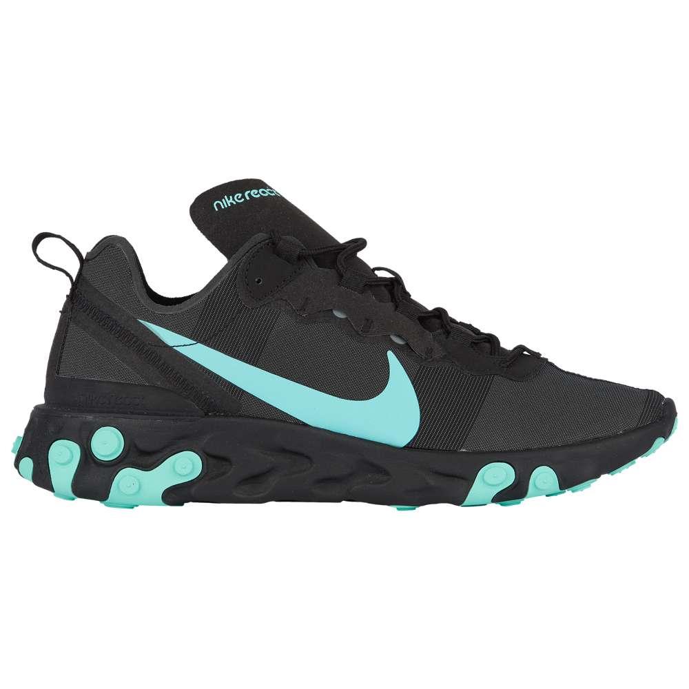 ナイキ Nike メンズ ランニング・ウォーキング シューズ・靴【React Element 55】Black/Aurora Green/Cool Grey